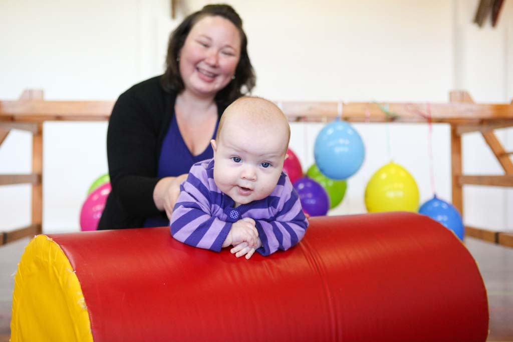 GymbaROO BabyROO Sydney West NSW Baby Classes Child Development Mother and Baby on Play Equipment