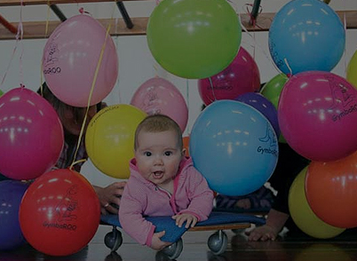 GymbaROO BabyROO Sydney West NSW Baby Toddler Child Development Baby and Balloons