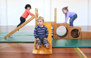 GymbaROO BabyROO Sydney West NSW Toddler Classes Child Development Three Children Playing on Equipment
